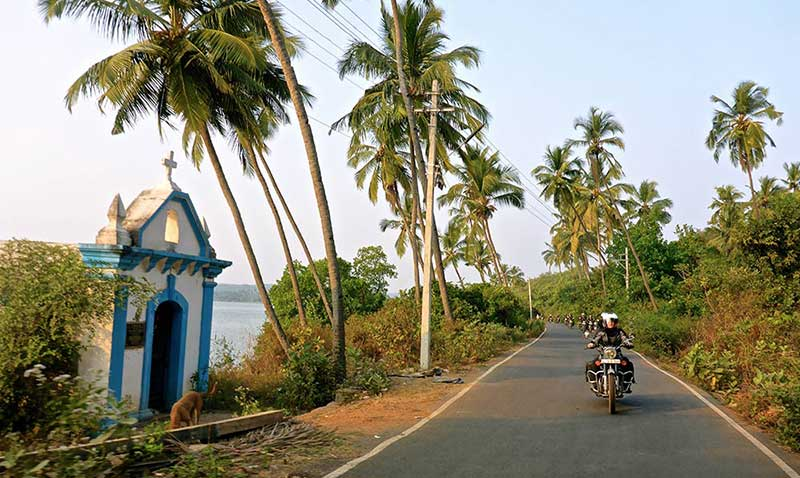 Agonda Beach zur südlichen Grenze von Goa
