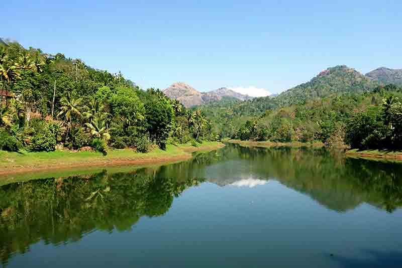 Blick auf die Kerala Backwaters
